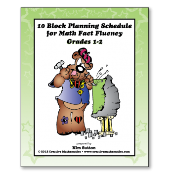 Grades 1-2 10 Block Schedule for Math Fact Fluency