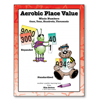 Aerobic Place Value Cards - Whole Numbers