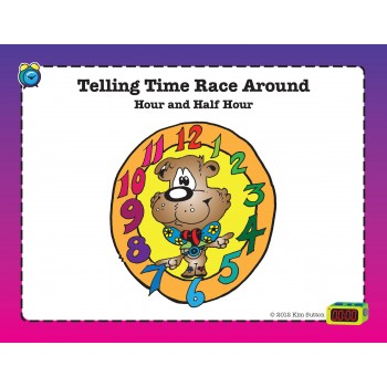 Telling Time Race Around PDF - Hour and Half