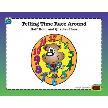 Telling Time Race Around PDF - Half Hour Quarter Hour