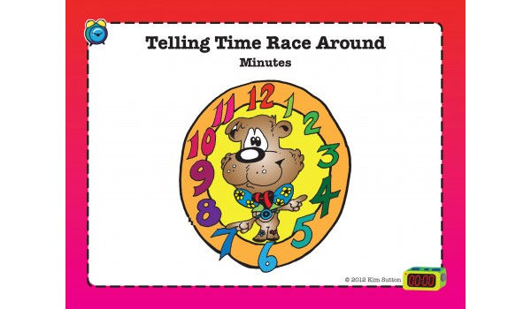 Telling Time Race Around PDF - Minute