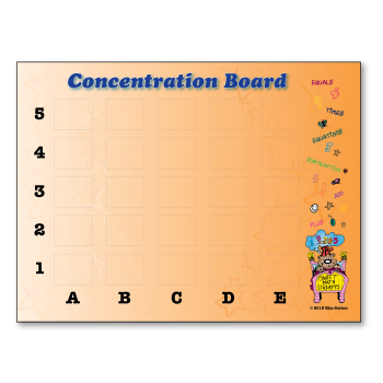 Concentration Board K-2 Poster
