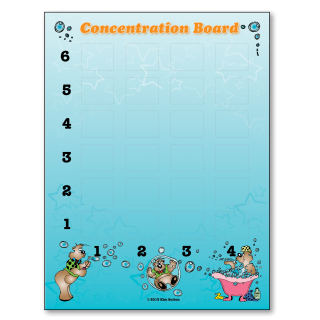 Concentration Board 3-5 Poster