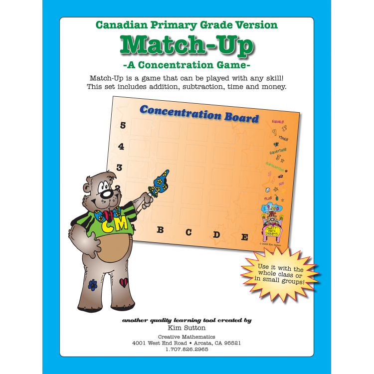 Match-Up Concentration -Canadian - PDF — 2 Versions