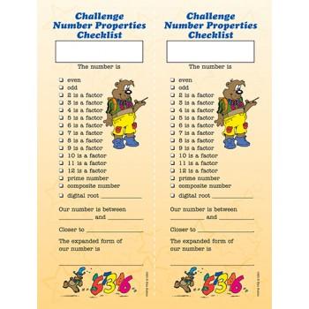 Challenge Number Properties Checklist Poster