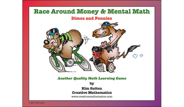 Race Around - Money and Mental Math - Dimes and Pennies PDF