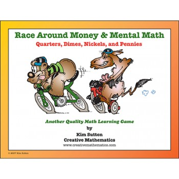 Race Around - Money and Mental Math - Quarters, Dimes, Nickels and Pennies PDF