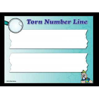 Torn Number Line Poster